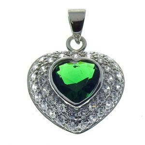 H1086 Vihreä zirk sydän 20mm