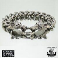 STEEL CHAIN WOLF HEAD 22CM